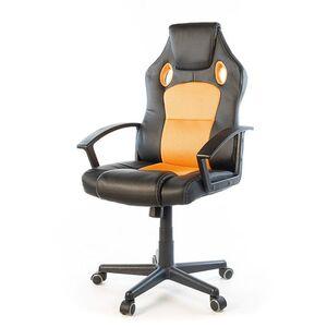 Кресло геймерское АКЛАС Анхель NEW PL TILT Чёрно-оранжевый