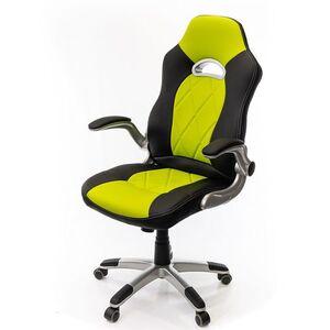 Кресло геймерское АКЛАС Форсаж 8 PL GTR TILT Чёрно-салатовый