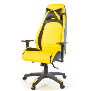 Кресло геймерское АКЛАС Хазард PL ANF Чёрно-жёлтый
