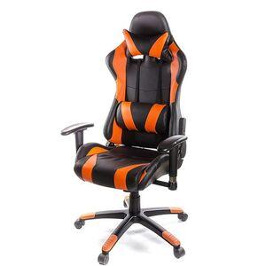 Кресло геймерское АКЛАС Хорнет PL RL Чёрно-оранжевый