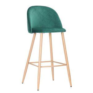Барный стул AMF Bellini бук-green velvet