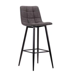 Барный стул AMF Mobil Черный-нубук Базальт