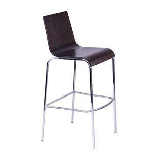 Барный стул AMF Порто Хокер хром Темный орех