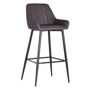 Барный стул AMF Rogers Черный-нубук Базальт