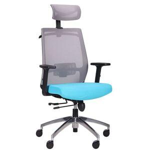 Кресло АМФ Install Black Alum Grey/ Light Blue