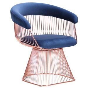 Кресло AMF Roller Rose Gold Royal Blue