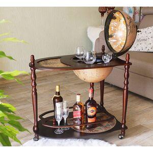 Глобус бар напольный со столиком 33035N