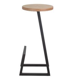 Полубарный стул Lovko №9 Черный-коричневый