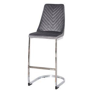 Барный стул Prestol Прайм Серый велюр