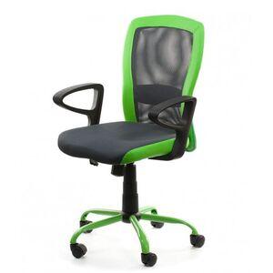 Кресло для персонала Special4You LENO Grey-Green (27784)