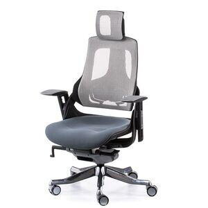 Кресло для персонала Special4You WAU SLATEGREY FABRIC, SNOWY NETWORK (E0796)