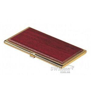 Футляр для визиток металлический Bestar 1327WDN Красное дерево