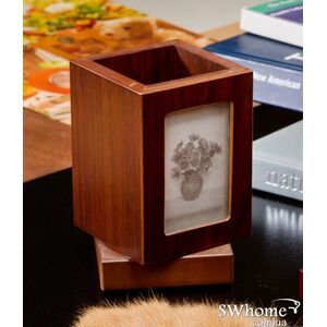 Подставка настольная с фоторамкой деревянная Bestar 1591FDX Орех