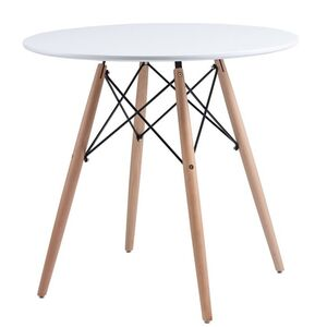 Обеденный круглый стол Concepto Redonda белый