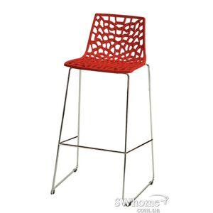 Барный стул GRANDSOLEIL Spider Красный