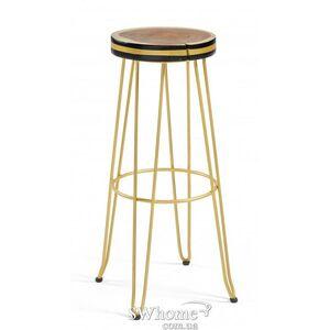 Барный стул La Forma FARLEY Черно-золотой
