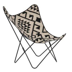 Кресло La Forma FLYNN Черно-белое CC0352J60