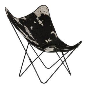 Кресло La Forma FLYNN Черно-белое CC0352P60