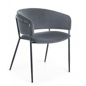 Кресло La Forma KONNIE Серый велюр