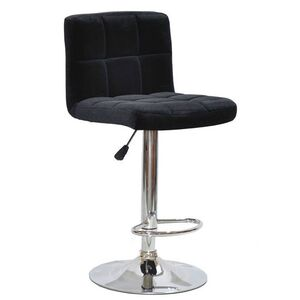 Барный стул Onder Mebli Arno BAR CH-BASE Черный B-1011 Бархат