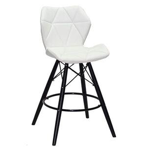 Полубарный стул Onder Mebli Greg BAR 65 - BK Белый Экокожа