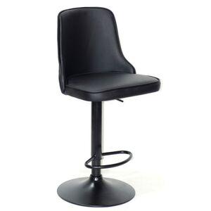 Барный стул Onder Mebli Adam BAR BK-BASE Черный Экокожа