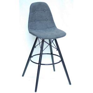 Барный стул Onder Mebli Alex BAR 75-BK Серый G-110 Шенилл