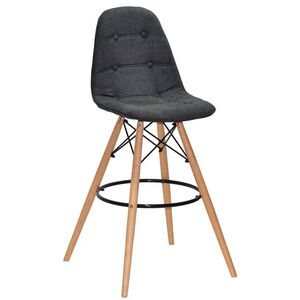 Барный стул Onder Mebli Alex BAR 75 Серый G-111 Шенилл