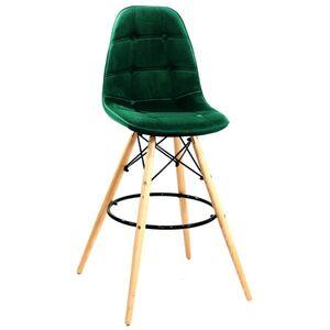 Барный стул Onder Mebli Alex BAR 75 Зеленый B-5 Бархат