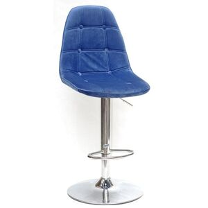 Барный стул Onder Mebli Alex BAR CH-BASE Синий B-1 Бархат