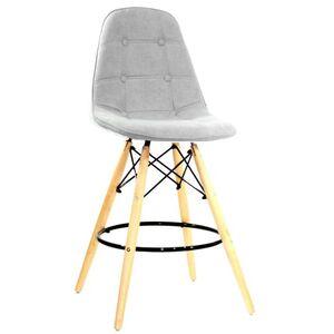 Полубарный стул Onder Mebli Alex BAR 65 Серый G-102 Шенилл