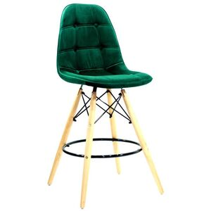 Полубарный стул Onder Mebli Alex BAR 65 Зеленый B-5 Бархат