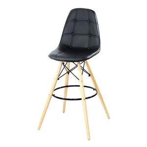 Барный стул Onder Mebli Alex BAR 75 Черный Экокожа