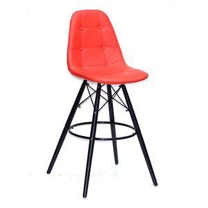 Барный стул Onder Mebli Alex BAR 75 BK Красный 05 Экокожа