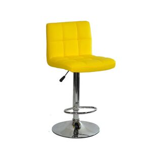 Барный стул Onder Mebli Arno BAR CH-BASE Желтый 1006 Экокожа