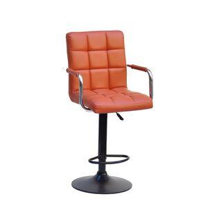 Барный стул Onder Mebli Augusto-Arm BAR BK-BASE Коричневый 1014 Экокожа