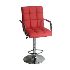 Барный стул Onder Mebli Augusto-Arm BAR BK-BASE Красный 1007 Экокожа
