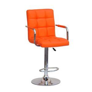 Барный стул Onder Mebli Augusto-Arm BAR CH-BASE Оранж 1012 Экокожа