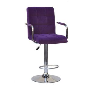 Барный стул Onder Mebli Augusto-Arm BAR CH-BASE Пурпурный B-1013 Бархат