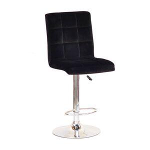 Барный стул Onder Mebli Augusto BAR CH-BASE Черный B-1011 Бархат