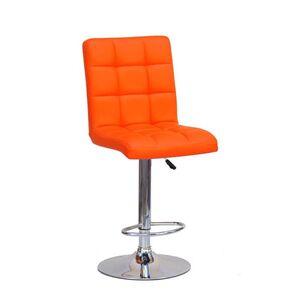 Барный стул Onder Mebli Augusto BAR CH-BASE Оранж 1012 Экокожа