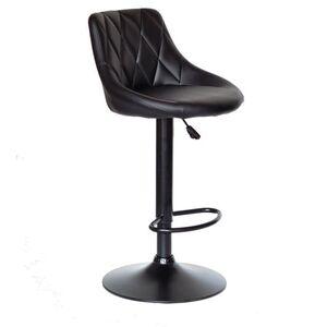 Барный стул Onder Mebli Foro BAR BK-BASE Черный Экокожа