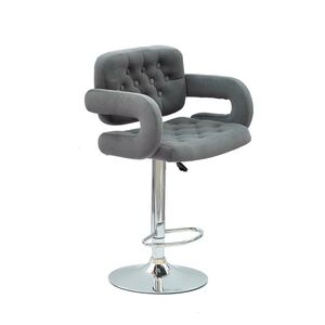 Барный стул Onder Mebli Gor BAR CH-BASE Серый B-1004 Бархат