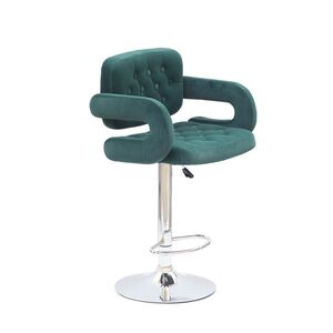 Барный стул Onder Mebli Gor BAR CH-BASE Зеленый B-1003 Бархат