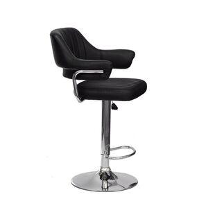 Барный стул Onder Mebli Jeff BAR CH-BASE Черный Экокожа