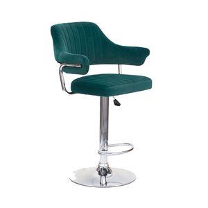 Барный стул Onder Mebli Jeff BAR CH-BASE Зеленый B-1003 Бархат