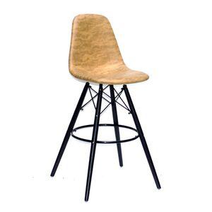 Барный стул Onder Mebli Lari BAR 75 - BK HK Желтый MR-201 Ткань