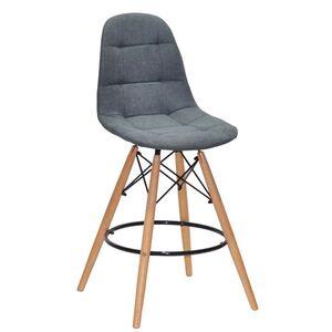 Полубарный стул Onder Mebli Peter BAR 65 Светло-серый SH-1 Шенилл