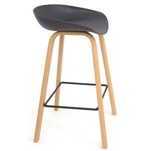 Полубарный стул Onder Mebli Konor BAR 65 Антрацит 01