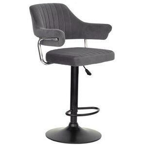 Барный стул Onder Mebli Jeff BAR BK-BASE Серый B-1004 Бархат